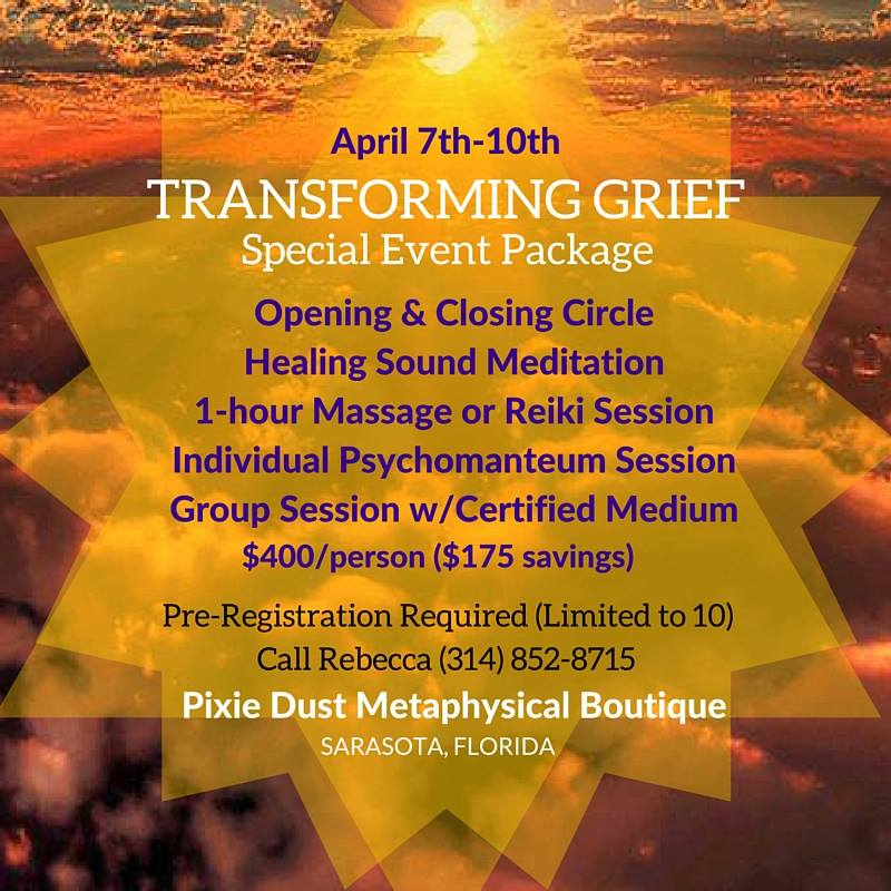 Transforming Grief Package April 2016